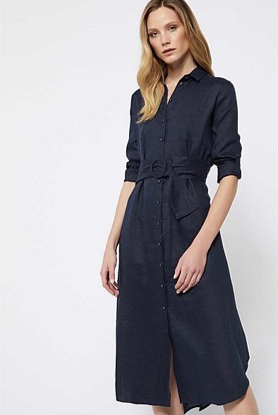 Witchery Linen shirt dress