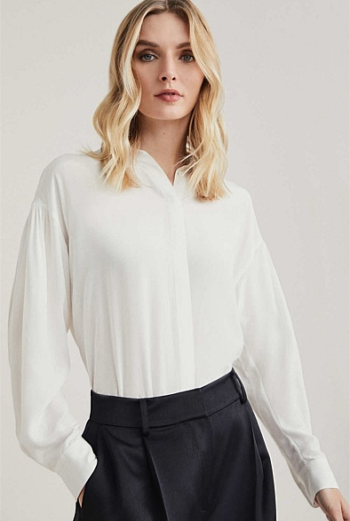OCRF Drape Shoulder Blouse
