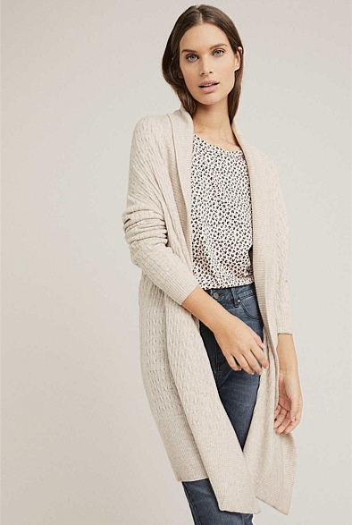 Cable Cocoon Cardigan