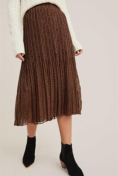 Fine Pleat Skirt