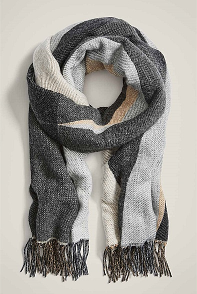 Graphic Wool Scarf
