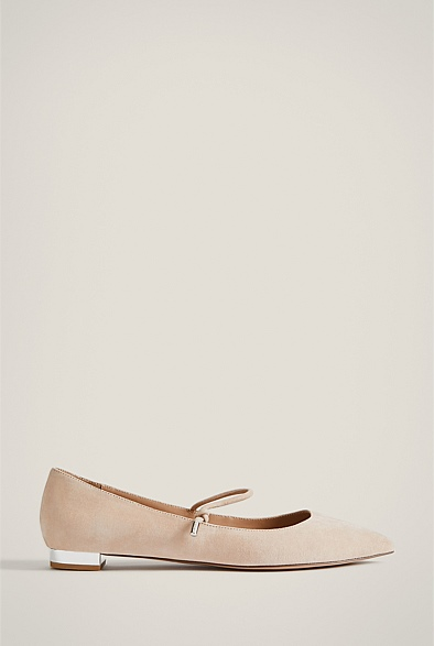 Nora Suede Flat