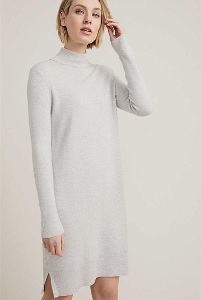 Roll Neck Knit Dress