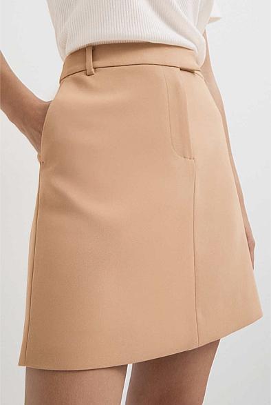 Camel Mini Skirt