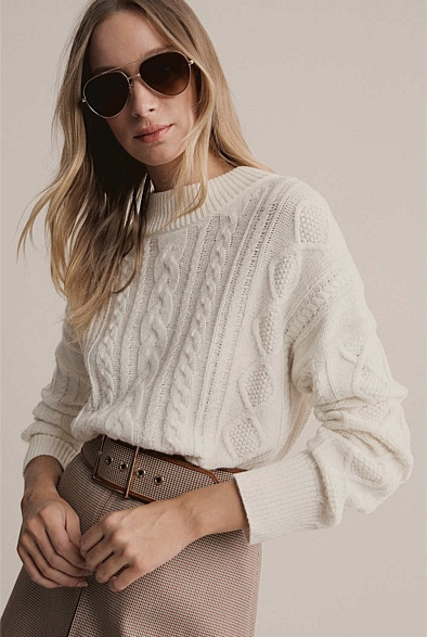 High Neck Cable Knit
