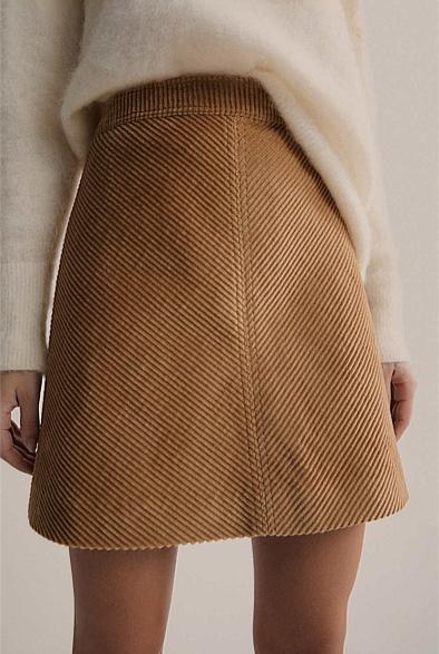 Wide Cord Mini Skirt