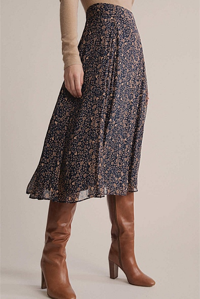 Floral Bias Cut Skirt