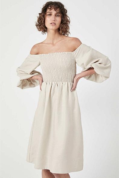 Witchery Shirred Bodice Dress