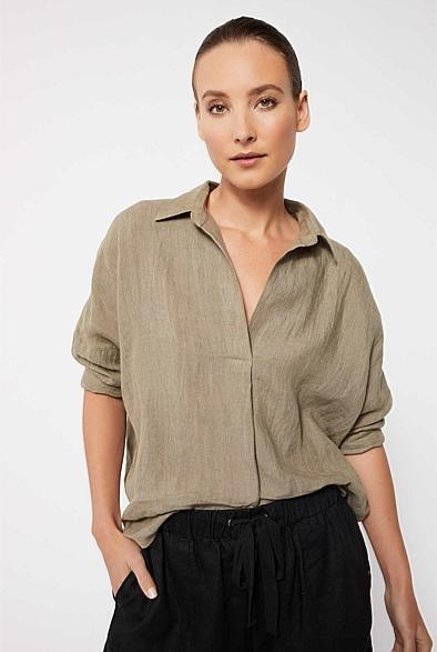 Witchery organic linen shirt