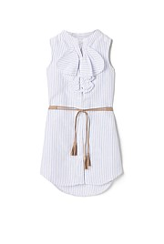Stripe Frill Dress
