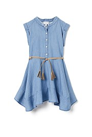 Fray Chambray Dress
