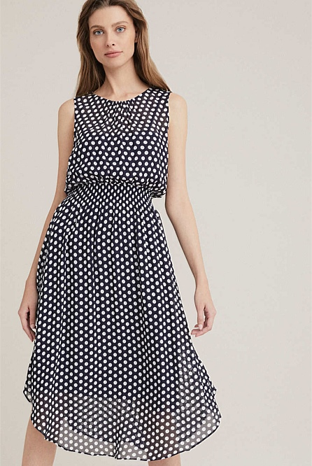Shirred Waist Dress