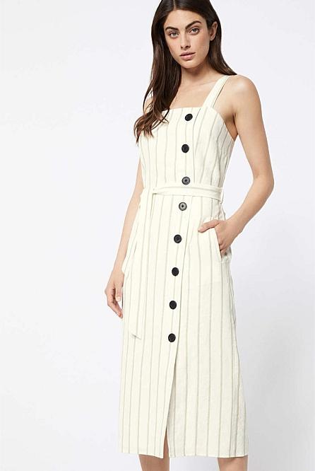 7d563eb560b Button Linen Dress