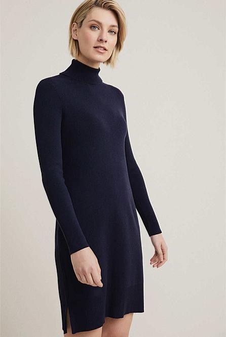 5b8137d00548 Roll Neck Knit Dress   Dresses & Skirts