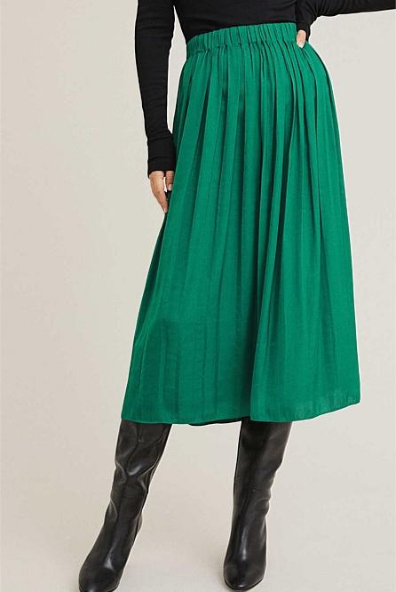adb2adfa6 Soft Pleat Skirt   Midi Skirts