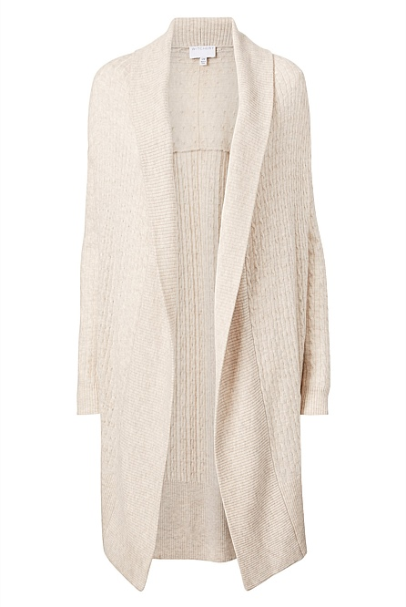 Cable Cocoon Cardigan by Witchery