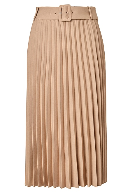 Pleated Belt Skirt by Witchery
