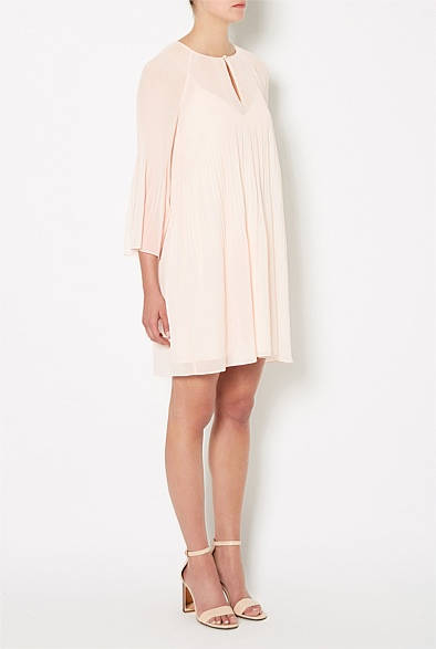 Pleat Detail Dress